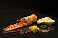 Langoustine on a plate Stock Images