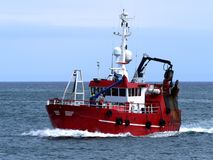 Langoustine trawler Fotografia Stock