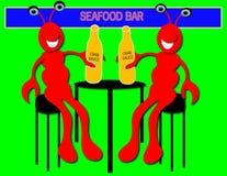 Langoustines dans le bar Photos libres de droits