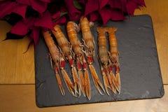 Langoustines para el almuerzo Imagenes de archivo
