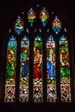 Langport彩色玻璃的H诸圣日教会 免版税库存图片