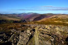 Langs de Cumbria-Manier aan Skiddaw Royalty-vrije Stock Foto