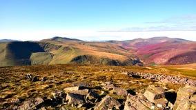 Langs de Cumbria-Manier aan Skiddaw Stock Foto