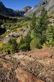 Langs de Lundy-Canionsleep, Hoover-Wildernis, Siërra Nevada Range, Californië Stock Foto's