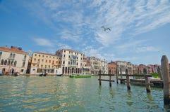 Langs het Grote Kanaal. Venetië Stock Fotografie