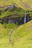 Langs Hiway 1 dichtbij ReykjavÃk Royalty-vrije Stock Afbeeldingen
