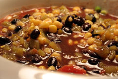 Langsam kochende würzige Suppe Lizenzfreies Stockbild