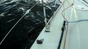 Langsam von der Yacht stock footage