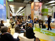 Langsame Nahrung und Terra Madre. Salone Del Gusto 2010 Lizenzfreie Stockfotos