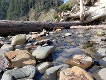 Langsamer Nebenfluss über Felsen lizenzfreie stockfotografie
