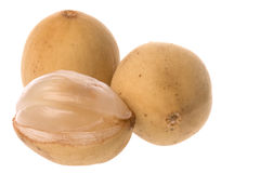 Langsat Fruit Isolated Stock Images