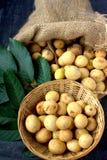 Langsat - tropical fruit Royalty Free Stock Image