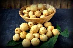 Langsat - tropical fruit Stock Photo