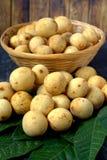 Langsat - tropical fruit Stock Photos