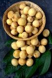 Langsat - tropical fruit Stock Images