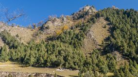The Langshidang Scenic Area. Is the central scenic spot of China`s Qinghai Mutual Aid Beishan National Forest Park. It has the earliest development, the largest royalty free stock images