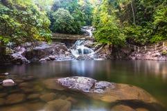 Langsir waterfall. This waterfall located at kenyir lake, terengganu, malaysia Stock Photography