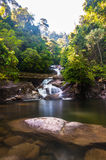 Langsir waterfall. This waterfall located in the middle of kenyir lake, terengganu, malaysia stock photography