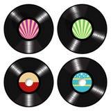 Langspielplatten-Vinylaufzeichnungs-Vektor Stockbilder