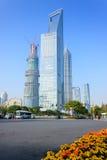 Langste gebouwen in Shanghai Stock Afbeeldingen
