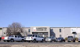 Langston Companies, West Memphis, Arkansas. Langston Companies, Inc., established in 1946, is a full-line supplier of various types of bags and other packaging Royalty Free Stock Photo
