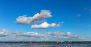 Langstone港口,英国 库存照片