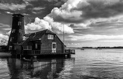Langstone磨房在汉普郡英国 图库摄影