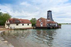 Langstone-Mühl-Chichester-Hafen Lizenzfreies Stockfoto