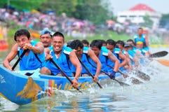 Langsuan传统长的赛艇节日,泰国 库存图片
