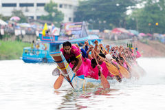 Langsuan Traditional Long Boat racing festival, Thailand Stock Images