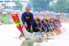 Langsuan Traditional Long Boat racing festival, Thailand Royalty Free Stock Photography
