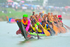 Langsuan Traditional Long Boat racing festival, Thailand Stock Photo