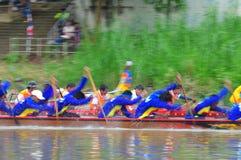 Langsuan Traditional Long Boat racing festival, Thailand. Chumphon, Langsuan, Thailand, 31 October – 4 November 2012: Langsuan Traditional Long Boat stock images