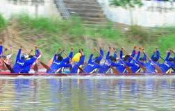 Langsuan Traditional Long Boat racing festival, Thailand. Chumphon, Langsuan, Thailand, 31 October – 4 November 2012: Langsuan Traditional Long Boat stock photography