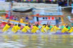 Langsuan Traditional Long Boat racing festival, Thailand. Chumphon, Langsuan, Thailand, 31 October – 4 November 2012: Langsuan Traditional Long Boat stock photos