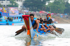 Langsuan Traditional Long Boat racing festival, Thailand Stock Photography