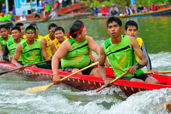 Langsuan Traditional Long Boat racing festival, Thailand Royalty Free Stock Images