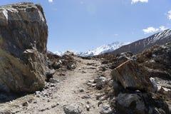 Langtand valley trekking mountain in Nepal Stock Image