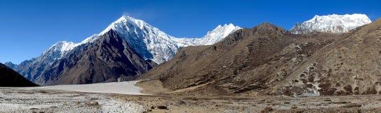 Langtang Himal Panorama Stock Images