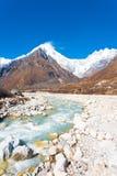 Langtang Lirung Himalayas Mountains Rocks River Royalty Free Stock Photography
