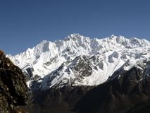 Langtang mountain range Stock Images