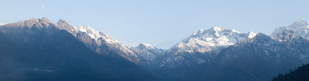 Langtang mountains panorama Royalty Free Stock Photography