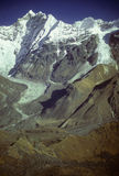 Langtang Peak and glacial moraines Royalty Free Stock Photography