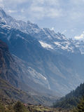 Langtang wioska, Nepal obraz stock