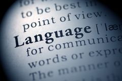 Language. Fake Dictionary, Dictionary definition of the word Language