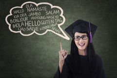 Language bachelor in class 1 Stock Image