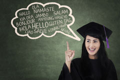 Language bachelor in class Royalty Free Stock Photography
