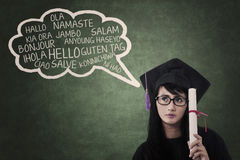 Language bachelor in class 3 Stock Photography