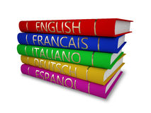 Language books Royalty Free Stock Photography