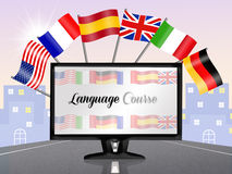 Language corse. Funny illustration of language corse Stock Photography